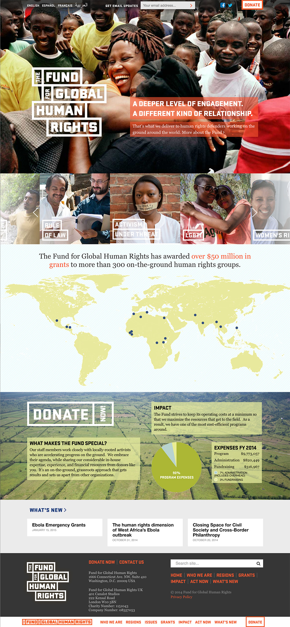 Fund for Global Human Rights, Home Page