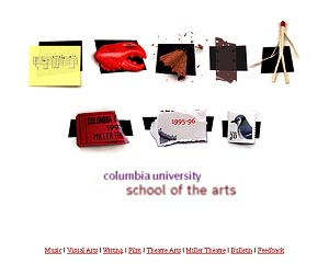Columbia University Graduate School of the Arts site home page