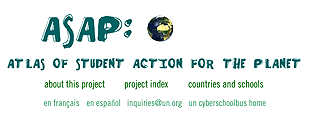 Atlas of Student Action for the Planet home page