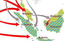 Migration Routes to Indonesia