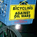 Bicycling, a Quiet Statement Against Oil Wars