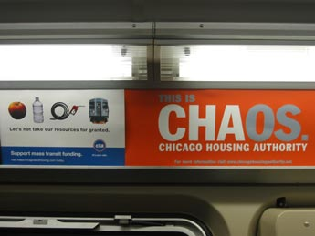 CHAos ad in train