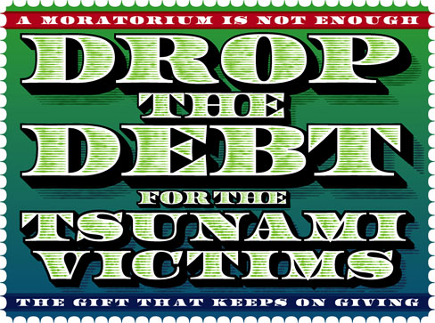 Drop the Debt for the Tsunami Victims