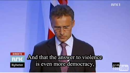 And that the answer to violence is even more democracy.