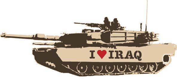 I Heart Iraq, Stencil