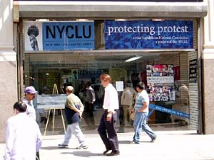 NYCLU Protecting Protest Storefront