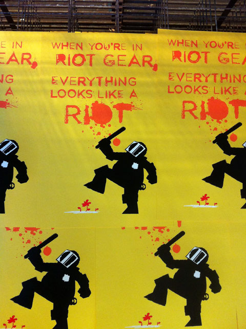 When in Riot Gear, screened