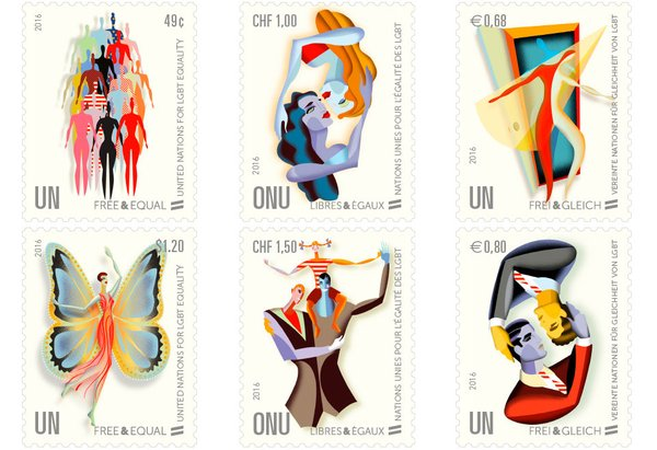 Four LGBT-themed stamps
