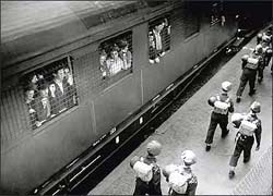 Photgraph of Jews in a train station