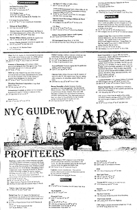 Map of War Profiteers in NYC, Back
