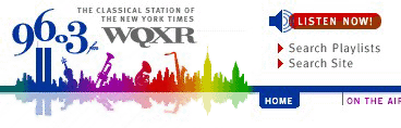 WQXR Web site, before