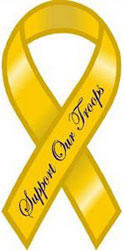 Support the Troops Yellow Ribbon Magnet